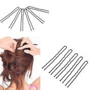 100Pcs Waved U-shaped Hairclips Bobby Pin Barrette Salon Grip Hair Clip Hairpin