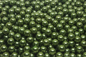 25 x No-Hole Pearls - Crafting Deco Decorative Beads Wax Pearls - Set - 8mm - Green