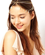 Aukmla Head Chain Headpiece Women Tassels Leaves Jewellery Bohemia Headband Party Hair Band