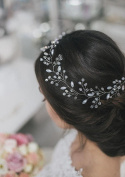 Aukmla Wedding Headband for Bridesmaid and Flowergirls Wedding Crystal Hair Piece Hair Accessories for Women and Girls