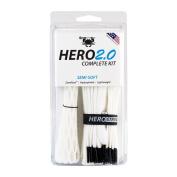 East Coast Dyes ECD Lax Hero2.0 Complete Kit Semi-Soft Lacrosse Mesh HeroMesh 2.0 White