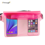 Waterproof Pouch, iThrough® Universal Waterproof Pouch, Dry Bag with Waist Strap for Beach/Fishing for iPhone 7/6/6 Plus/5/5S/5C, Galaxy S4 S5 S6 Edge/Note 4/3/2, LG, Camera, Cash & Documents