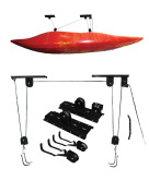 Riber Overhead Storage Lift Pulley System for Kayaks / Cycles - 20kg Capacity