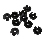 MagiDeal 10pcs Plastic Black Deck Line Guide Round Outfitting for Boat Canoe Kayak Accessories DIY