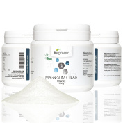 Magnesium Citrate Powder 300g | High quality from Trimagnesium dicitrate | Strengthen Muscles, Enhance Performance, Endurance |100% Vegan by Vegavero