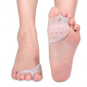 DOXUNGO Unisex Gel 3-Toe Holes Separator Protector Bunion Thumb Eversion of the Device, Valgus Toe Valgus Large Toe Toe Device, Separation of Three-hole Toe Orthosis for Dancers,Yogis & Athletes,Treatment for Bunions Relief,Hammer Toe,Hallux Valgus (A ..