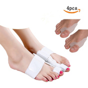 Bunion Splint,Progoco 4 Pcs Hallux Valgus Straightener Corrector Relieve Toe and Bunion Pain and Bring Permanent Correction