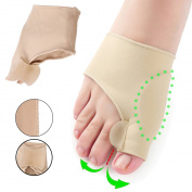 Bunion Splints -Risingmed Bunion Corrector Toe Protectors Bunion Gel Pad Spandex Bunion Toe Strengtheners Spreader with 2 Booties 1 Pair for Hallux Valgus Bunion Pain Relief Big Toe Alignment