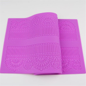 40x17cm Fondant Silicone Lace Mat Moulds Flower Pattern Shaped Bakeware Baking Tray Mould Pastry Cake Decorating Tools Silicone Baking Mat Kitchen DIY