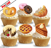 PRE-CUT PASTRIES EDIBLE RICE / WAFER PAPER CUPCAKE CAKE DESSERT TOPPERS BIRTHDAY PARTY DECORATIONS