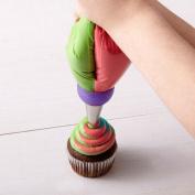 1 PCS 3 Holes Cake Decoration Converter Mix Icing Piping Nozzle Converter for Cupcake Random Colour