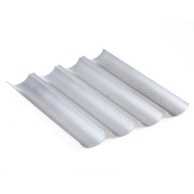 YUNI Baguette Baking Tray Nonstick Perforated Baguette Pan for French Bread 4 Waves Loaf Bake Mould Baking Toast Cooking Tray