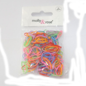 Pack 250 Small Mini Polyurethane Elasticated Hair Bands Bright 1cm
