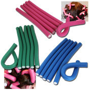 Jazooli 10pc Bendy Flexible Foam Hair Rollers Curlers Waves Soft Tool Salon Hairdressing - Medium
