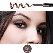 Magical Halo Precision Waterproof Brow Liner Double Ended Eyebrow Pencil With Eyebrow Brushes Tools 5 Colours Dark Brown Pack Of 1