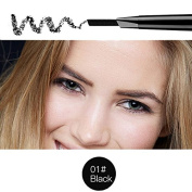 Magical Halo Precision Waterproof Brow Liner Double Ended Eyebrow Pencil With Eyebrow Brushes Tools 5 Colours Black Pack Of 1