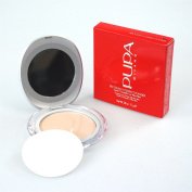 PUPA Milano Silk Touch Compact Powder 11g / 1120ml Compact Face Powder wth Aloe Vera - Shade/Colour 01 Nude/Transparent