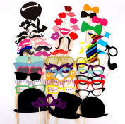 Set of 58 Demarkt Fashion Photo Booth Props Interesting Photo DIY Kit for Wedding Birthday Party Funny Accessories