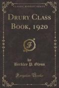 Drury Class Book, 1920