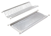 Emuca 8934365 Stainless Steel Dish Drying Rack 70 cm Width kitchen Cabinet - Chrome