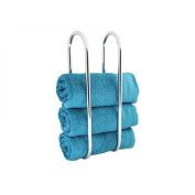 Towel Holder Wall Mounted Towel Storage Rack Bathroom Organiser Towel Rail