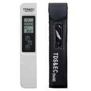 MacDoDo Digital Water Quality Tester,Professional TDS,EC and Temperature Metre,0-9990ppm,0-9990us/cm,+/-2% High Accuracy for Drinking Water,Hydroponics,Gardening,Aquariums,Pools and Spas