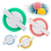 Zilong Pompom Maker 4 Sizes Pom Poms Bobble Maker Kit Knitting Crafts Fuzz Ball DIY Tool