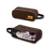 Wrapables Travel Shoe Storage Bag, Brown