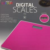 Pink Slimline Digital Bathroom Scales - . Glass Platform
