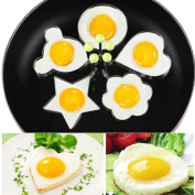 Yookoon 5 Non-Stick Egg Rings Stainless Steel Roasting Cooking Egg Pancake Fried Egg Omelettes Mould Kitchen Tool Pancake Rings