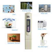 TDS Metre 3 Water Quality Tester for Hydroponic Nutrient Level, Household Drinking Water, Pool, Aquarium Water