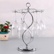 YUCH European creative double 8 stainless steel cup red wine rack frame shaped cup frame frame goblet