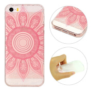 iPhone 5S Case, iPhone SE Cover, Rosa Schleife Ultra Thin Transparent Crystal Clear Flexible TPU Rubber Bumper Back Case Soft Durable Silicone Cover Hybrid Shock Proof Protective Shell Skin Case Cover for iPhone 5/5S/SE