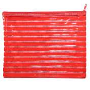 Large Glossy Red PVC Pencil Case Wash/Make Up Bag