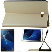 ebestStar – For the for Samsung Galaxy Tab 10.1 2016 T580 T585 (A6) – High Strength SmartCase Case Cover Slim Smart Stand Cover Case + Screen Protector Film Tempered Glass [, Gold/Gold Size precises Outputs