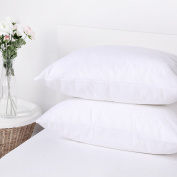 Dreamaker Polypropylene Stain Resistant Pillow Cover Protector Zippered Set of 2