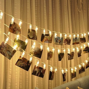 Picture String Lights, EONANT 40 LED Photo String Lights Battery Operated for Home/Party/Christmas Decor