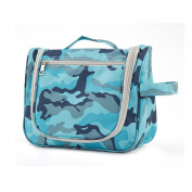 Fieans Potable Travel Folding Make up Toiletry Bags with Hook Organiser Bags Cosmetic Bags-Blue Camo