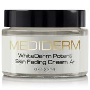 Mediderm Best Dark Spot Corrector & Natural Skin Whitening Fade Cream, A+ Lightening Blemish Removal Serum Reduces Age Spots, Freckles, Melasma & Hyperpigmentation - Get Rid Of Liver Spots