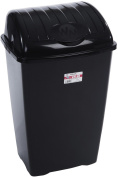 Black 50Ltr Lift Top Bin Black-Made in UK From Whatmore