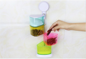 Suction Cup, Wall Hanging Condiment Box, Kitchen Appliance, Spice Container, Vertical Storage Box
