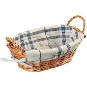 Kesper Oval Willow Bread Basket, Brown