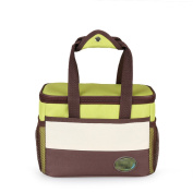 Outdoor Originality Insulation Easy To Clean Square Picnic Bag,Green