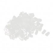 160Pcs White Nylon R Type Clip Clamp for 8.4mm Dia Wire Hose Tube