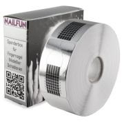 Nailfun 1 Roll (500 Pieces) of Papers Argenti for Nail Extend