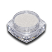 Chrome Effect Pigment White Glitter Powder for Nail Art Design Trend RM Beauty Nails