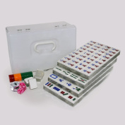 LI JING SHOP - Home Acrylic Two colours crystal Gold wire Mahjong, 4.0CM large Hand rubbing Mahjong card size