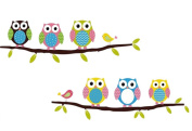 LAAT 1 Pack Owl Wall Stickers DIY Wallpaper Art Mural Home PVC Decor Decal for Living Room Bedroom Kitchen Kids Room