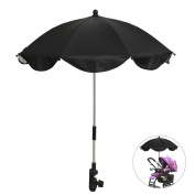 Baby Umbrella Stroller Pram Pushchair Parasol Baby Canopy Sun Rain UV Protection Sunshade Black