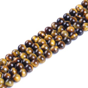 Natural Round AA Tiger Eye Agate Loose Stone Beads Bulk For Jewellery Making 4MM, 6MM, 8MM, 10MM ,12MM